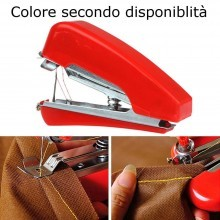 Micro macchina cucire viaggio portatile mini cucitrice valigia ripara strappi