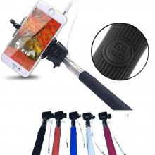 DOBO® Selfie Monopiede telescopico con morsetto regolabile e bastone estensibile per Samsung, iPhone, HTC, Sony, Huawei