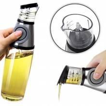 Dispenser dosatore olio aceto pressione oliera 500 ml tappo salvagoccia insalata