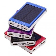 Power bank pannello solare 3000mAh USB batteria caricabatterie LED smartphone