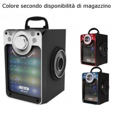 MK618 Cassa altoparlante LED speaker Radio FM USB BLUETOOTH batteria smartphone