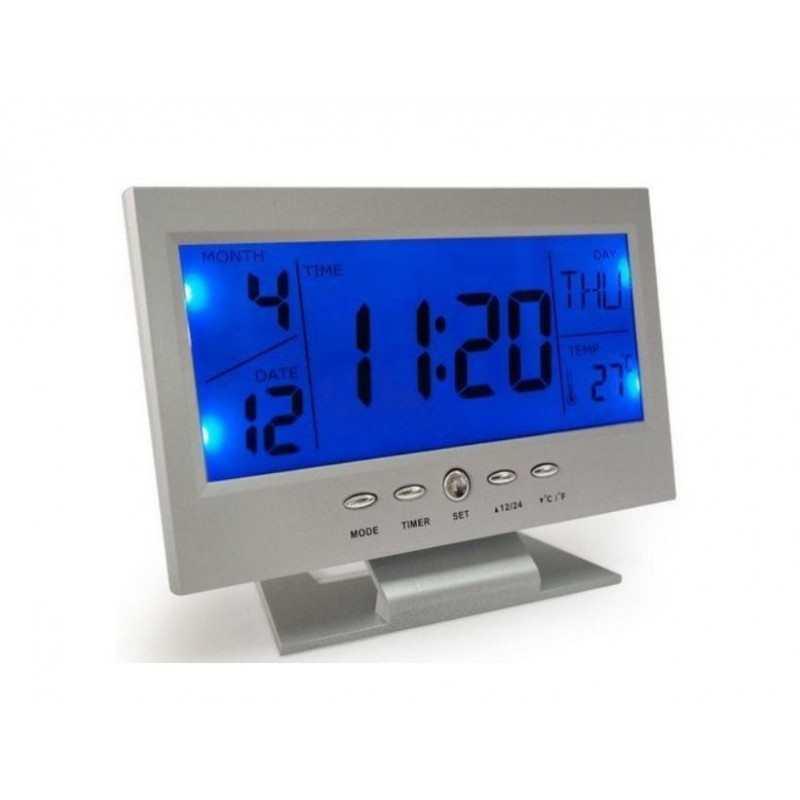 Calendario Digitale Per Anziani.Ds510 Sveglia Digitale Allarme Calendario Illuminata Temperatura Termometro