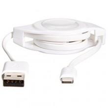 Cavo carica iPhone estensibile 8 pin lightning 1,2 metri USB avvolgibile piatto