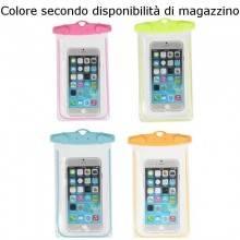 "Custodia cover smartphone impermeabile subacquea cellulare bustina ermetica 6"""