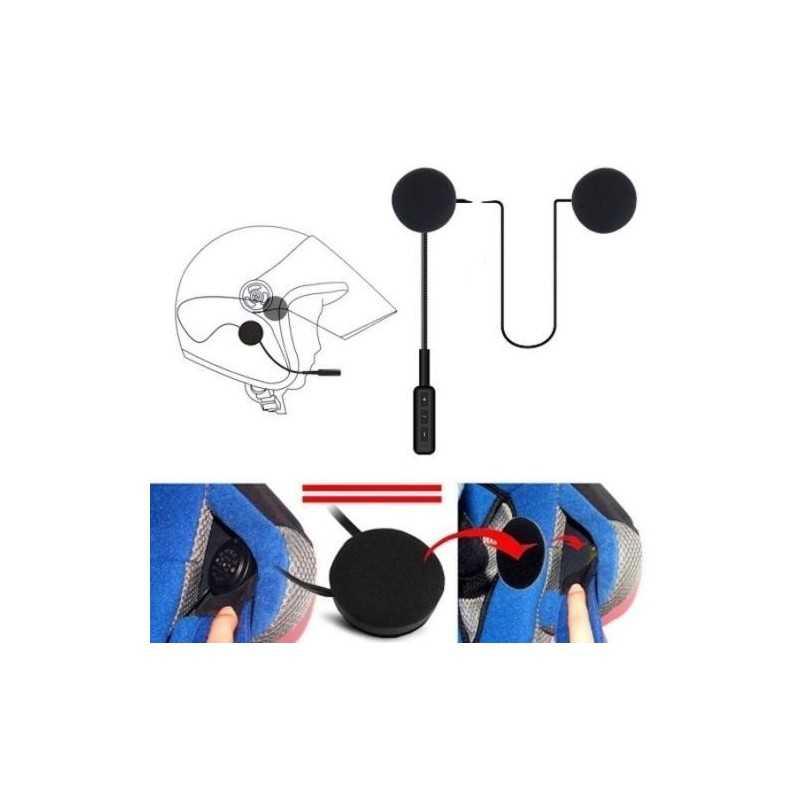 Auricolare moto scooter cuffie microfono chiamata bluetooth ricaricabili casco