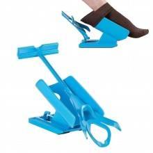 Calzascarpe calza calzini scarpe aiuto piede limitazioni motorie manico plastica