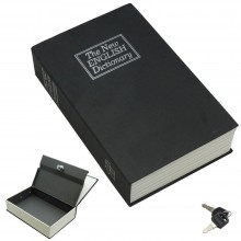 Libro nero cassaforte cassa sicurezza forma libreria chiavi alluminio plastica