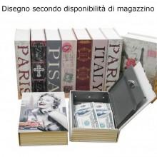 Libro città cassaforte cassa sicurezza forma libreria chiavi alluminio plastica