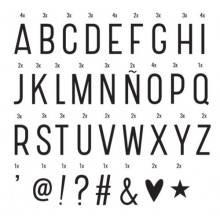 Lavagnetta box luminosa 70 lettere nere simboli casa vintage feste matrimoni