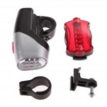 Kit Luci bicicletta anteriore 12 LED e posteriore torcia bici sicurezza set luci