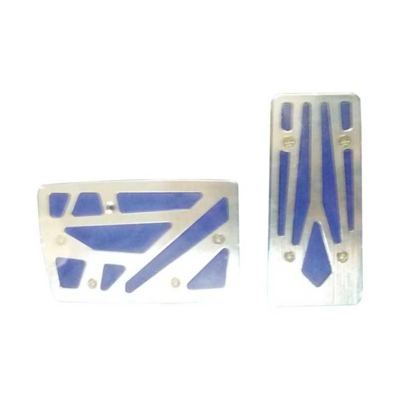 Copri pedali coperture auto cambio automatico freno acceleratore alluminio blu