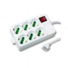 Multipresa ciabatta 4 posti schuko interruttore bianco casa elettrica 3 poli