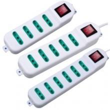 Multipresa multi posto 4 5 6 prese 3 poli interruttore casa elettrica spina