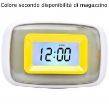 Orologio LCD sveglia illuminata LED temperature display allarme datario colore