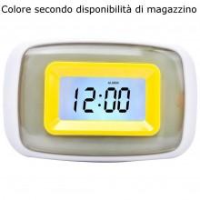 Orologio LCD sveglia illuminata LED temperature display allarme datario colore