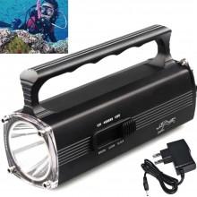 Torcia a mano LED lampada subacquea immersioni sub diving pesca IPX8 8000LM