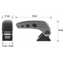 NEW Bracciolo Universale inserti alluminio poggiolo portaoggetti reclinabile