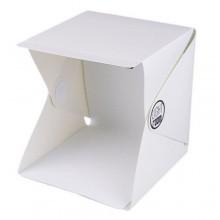 Studio fotografico cubo tenda box luce LED doppio sfondo kit foto esposizione