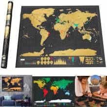 Mappa del mondo personalizzabile da grattare cartina world map scratch regalo