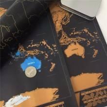 Cartina Mondo Gratta.Mappa Del Mondo Personalizzabile Da Grattare Cartina World Map Scra