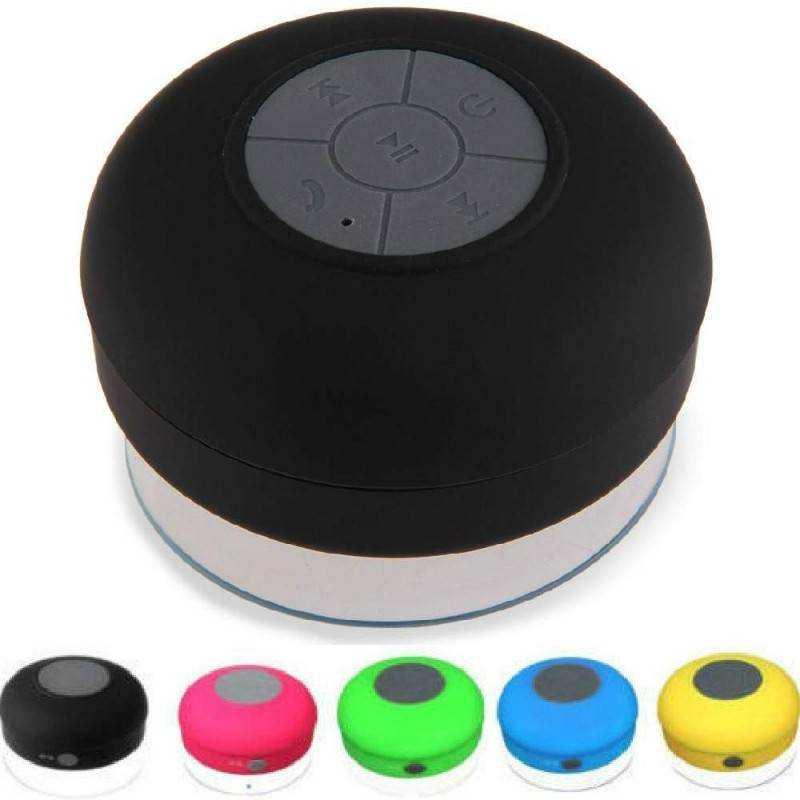 Cassa altoparlante Speaker Bluetooth impermeabile con ventosa per uso in bagno, spiaggia, piscina