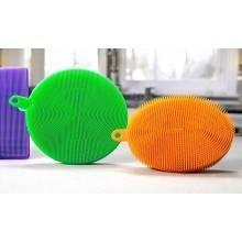 Set 3 Spugnette piatti stoviglie silicone salviette non abrasive antibatteriche