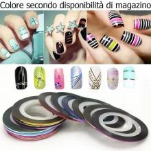 15 Strisce adesive unghie nailart rotolini disegno onicotecnica estetista smalto