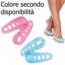 Coppia separatori smalto dita piedi distanziatore rilassare piede silicone