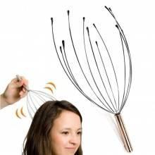 2 massaggiatori testa capelli relax anti stress ragno coppia massaggiatore