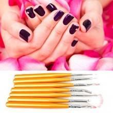 7 pennelli nail art ricostruzione unghie mani kit decorazione manicure piedi