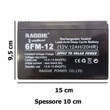 Batteria Ricaricabile 12V 12Ah al Piombo UPS solare allarme videosorveglianza