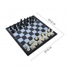 Scacchiera pieghevole magnetica dama backgammon scacchi viaggio vacanza 3 in 1