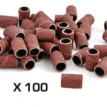 100 scovolini cilindri abrasivi nail art manicure fresa ricostruzione unghie