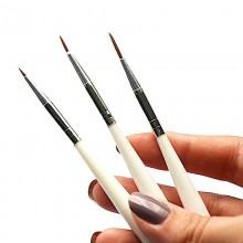 Kit 7 pennelli nail art manicure pedicure ricostruzione unghie disegno gel