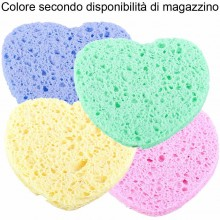 4x spugnette forma di cuore struccanti rimuovi trucco lavare viso donna sapone