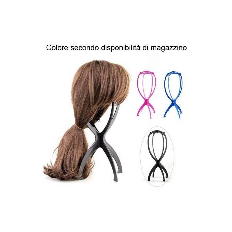 Supporto parrucca plastica assemblabile parrucche parrucchiere