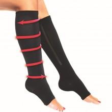 Coppia Calza contenitiva caviglie gonfie vene varicose dolori stanchezza
