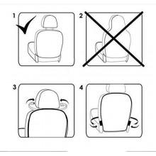 Protezione retro sedili auto plastica trasparente piedi bambini cibo tappezzeria