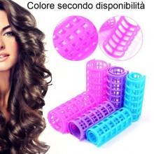 Bigodini in plastica ad incastro capelli boccoli donna arricciare parrucchiere acconciatura