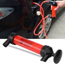 Pompa a sifone travaso aspira liquidi benzina gasolio diesel olio tubo gomma