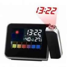 Sveglia orologio digitale proiezione ora data allarme luce notturna casa interno