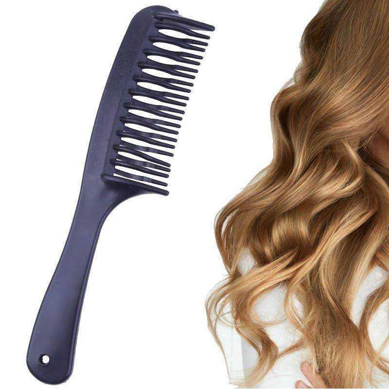 2 Pettini capelli ricci due file denti alternati mossi acconciatura parrucchiere