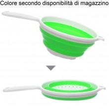 Scolapasta pieghevole salva spazio silicone cucina colino verdure pasta riso