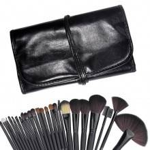Kit astuccio + 24 pennelli professionali Make up pennello trucco ombretto brush