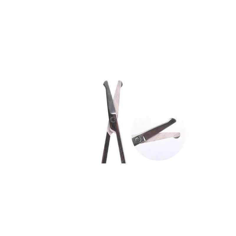 2 forbici unghie naso punta rotonda acciaio bambino forbicine arrotondate