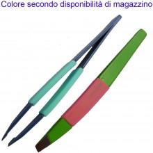 2x Pinzette sopracciglia precise antiscivolo estetista pinze colori vari make up