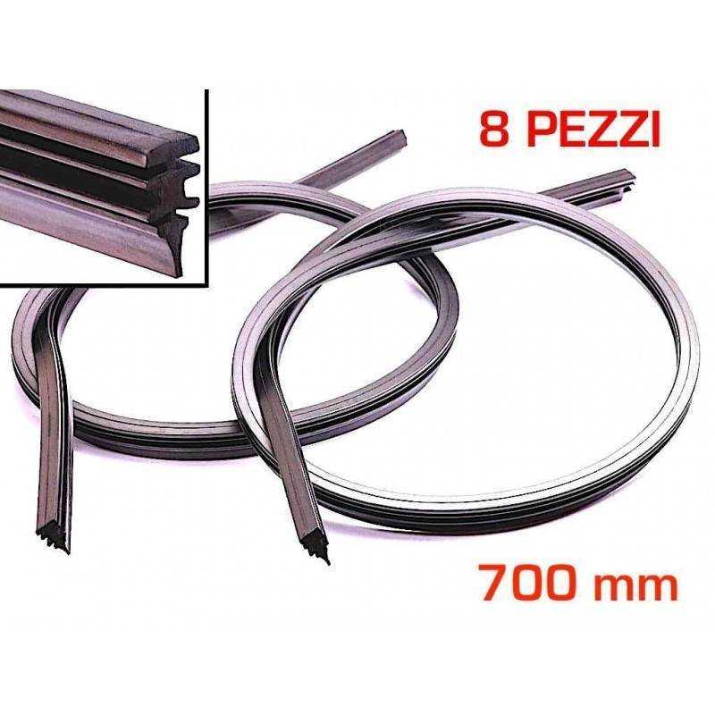 8 Gommini spazzole Tergicristallo gomma auto ricambio 700 mm misura regolabile
