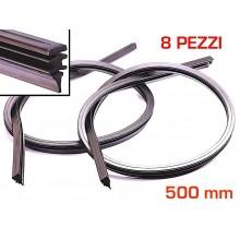 8 Gommini spazzole Tergicristallo gomma auto ricambio 500 mm misura regolabile