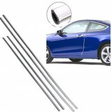 set 4 strisce Protezioni salva portiere cromata auto sportelli 68 cm 88 cm