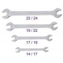 Kit 4 chiavi inglesi acciaio doppia misura bulloni dadi ferramenta bricolage